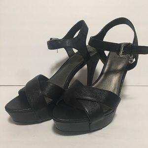 Guess high heels black shoes sz 8 women